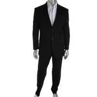Jones New York Mens Wool Notch Collar Two-Button Suit