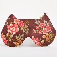 Cat Sleep Mask.  Flowers