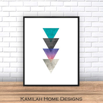 Geometric poster large - Scandinavian Print, Printable Art, Mid Century, Minimalist Art, Modern Wall Art, Wall Decor, Digital Download