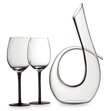 Maxwell & Williams Sensations Decanter and Wine Glass Set in Black