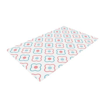 """KESS Original """"Baby Moroccan"""" Blue Pink Woven Area Rug - Outlet Item"""