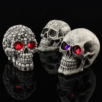 DKF4S Halloween Decoration Novel Originality Toys Funny Evil Do Persecute Others Prop Resin Human Skeleton Head480 G party decoratio