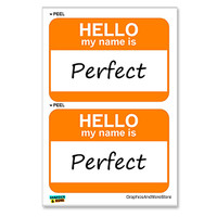 Perfect Hello My Name Is - Sheet of 2 Stickers