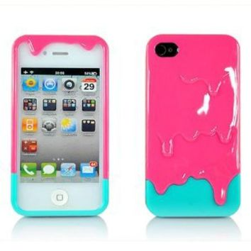 Generic MC0109 Cell Phone Case for iPhone 4 & 4s - Non-Retail Packaging - Pink
