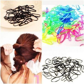 DKLW8 300pcs/pack Rubber Rope Ponytail Holder Elastic Hair Bands Ties Braids Plaits hair clip headband Hair Accessories