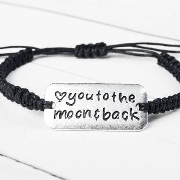 Love you to the Moon and Back Bracelet