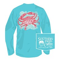 Pinch of Salt Long Sleeve Tee in Robins Egg by Southern Fried Cotton
