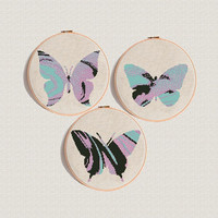 Watercolour Butterfly cross stitch pattern Modern cross stitch marble color insect Counted cross stitch easy Baby cross stitch DIY