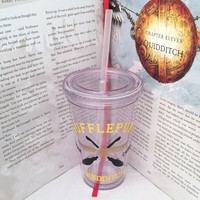 Hufflepuff House Quidditch Team Captain Harry Potter Inspired Acrylic Tumbler