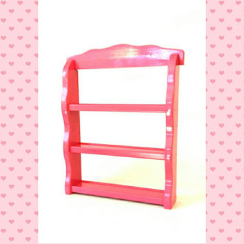 Nail Polish Shelf Essential Oil Display Rack Pink Hanging Wall Countertop Freestanding Vintage Wood Beauty Salon Shot Glass Shelves Holder