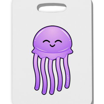 Cute Jellyfish Thick Plastic Luggage Tag by TooLoud