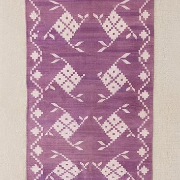 One-Of-A-Kind Purple Woven Rug | Urban Outfitters
