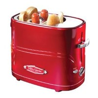 Nostalgia Electrics HDT-600RETRORED Retro Series Pop-Up Hot Dog Toaster: Kitchen & Dining