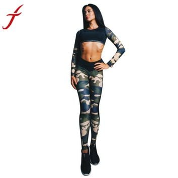 Sleek and Sexy Camouflage Fitness Tank Top
