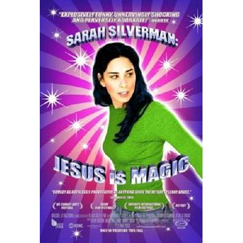 Sarah Silverman Jesus Is Magic poster Metal Sign Wall Art 8in x 12in