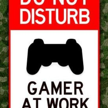 (13x19) Do Not Disturb Gamer at Work Video PS3 Game Poster