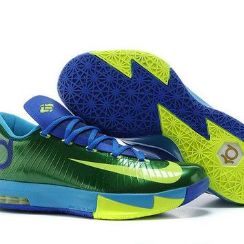 Spring Summer 2018 Fashion Kd 6 Nike ID Hulk Lucid Green Gorge Green Photo Blue Volt Brand sneaker