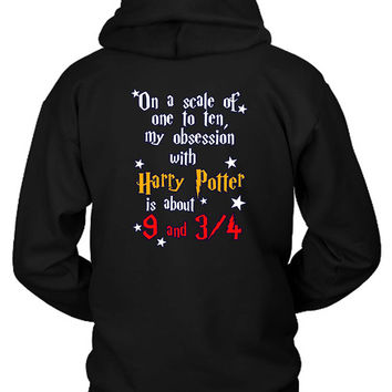 Harry Potter Obsession Train Hoodie Two Sided