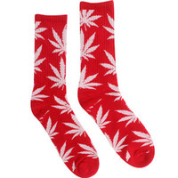 HUF Plant Life Crew Socks (white / red) Accessories HUFSC1EPLTWRD | PickYourShoes.com