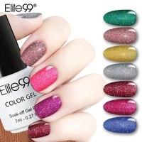 Elite99 Bling 7ml Neon Nail Gel Polish 12 Colors Soak Off UV LED Glitter Gel Lacquer Nail Art Vernis Long Lasting Gel Varnishes