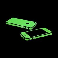 Glow in the Dark OEM SlickWraps Protective Skin For Apple AT&T Verizon iPhone 4 4S: Cell Phones & Accessories