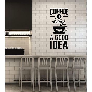 Vinyl Wall Decal Coffee House Quote Saying Kitchen Dining Room Art Interior Stickers Mural (ig5923)
