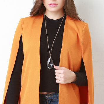 Seamless Cape Blazer Jacket