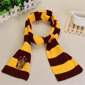 Ainiel Hermione Cosplay Scarves Women  Men Harri  Winter Neckerchief Gryffindor Ravenclaw Slytherin Hufflepuff  Potter Scarf