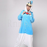 Donald Duck Costume Kigurumi Pajamas Adult Onesuit Pajamas Unisex Cosplay Romper Character Flannel Pyjamas Unisex (Slipper Not Included))