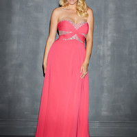 Beaded Sweetheart Neckline Empire Waist Plus Size Prom Dress By Night Moves 7123w
