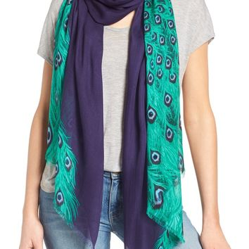kate spade new york peacock oblong scarf | Nordstrom