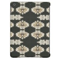 Vintage Floral in Gold and Black Case For iPad Air