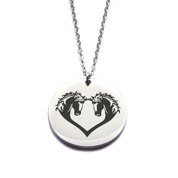 Custom Engraved Stainless Steel Horse Necklace