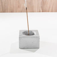 Cubed3 / White Concrete Square Incense Burner/ Incense holder/ Minimalist Home Decor