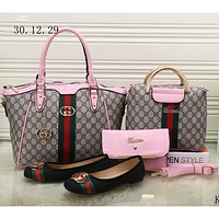 GUCCI NEW Counter Women's Exquisite Four Piece Messenger Bag/Shoe F-KSPJ-BBDL pink