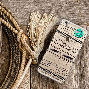 Personalized Iphone 6 case clear, Aztec Iphone 6 plus case clear, Girl's  tribal tech accessory, Christmas gift for best friend girl (1589)