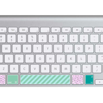 Mint green washi tape polka dots chevron pink Macbook Decal HP Keyboard Decal Macbook Keyboard Decal Macbook Air Stickers Keyboard sticker
