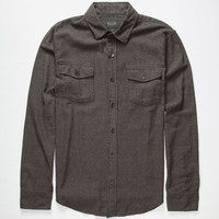 Valor Paramount Mens Flannel Shirt Charcoal  In Sizes