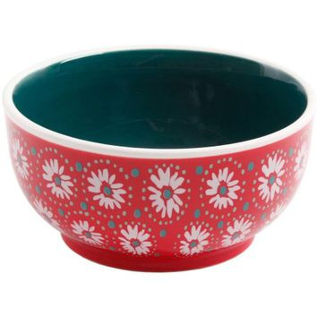 """The Pioneer Woman Holiday Daisy 6"""" Non-Footed Bowl, Set of 4 - Walmart.com"""