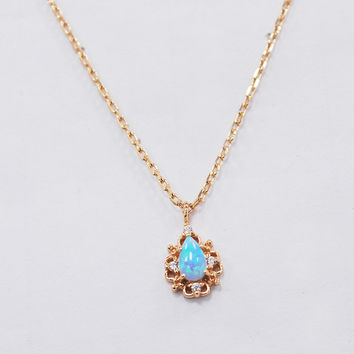 Handmade Opal Retro Necklace