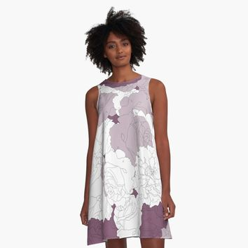 """Tender Roses"" A-Line Dress by bitart 