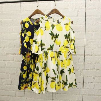 ONETOW Day-First? Summer Stylish Fruit Pattern Printed Dress