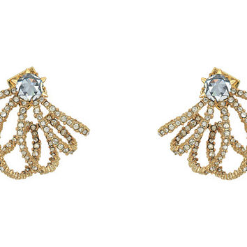 Alexis Bittar Crystal Lace Orbiting Post Earrings