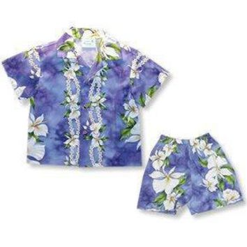 orchid hawaiian boy cabana set