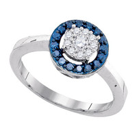 Diamond Fashion Ring in 10k White Gold 0.4 ctw