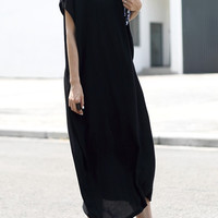 V-Neck Cozy Cocoon Dress