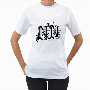 Naughty Nymph Charity Party Logo Women's T-Shirt (White)