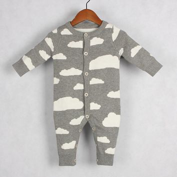 Baby Knitted Unisex Cloud Warm Onesuit