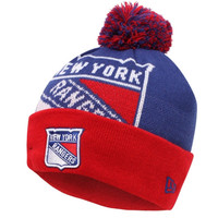 New York Rangers New Era Woven Biggie 2 Knit Hat – Royal Blue