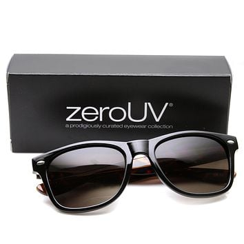 "Zerouv + Plus ""Brigitte"" Retro Dual Tone Horned Rim Indie Sunglasses"
